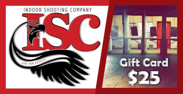 Gift Card $25 | Indoor Shooting Company | Tampa Shooting Range